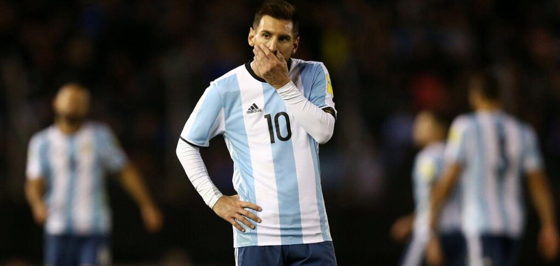 Мессі відлучений від збірної за критику футбольних функціонерів