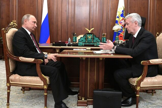 Володимир Путін з мером Москви Сергієм Собяніним