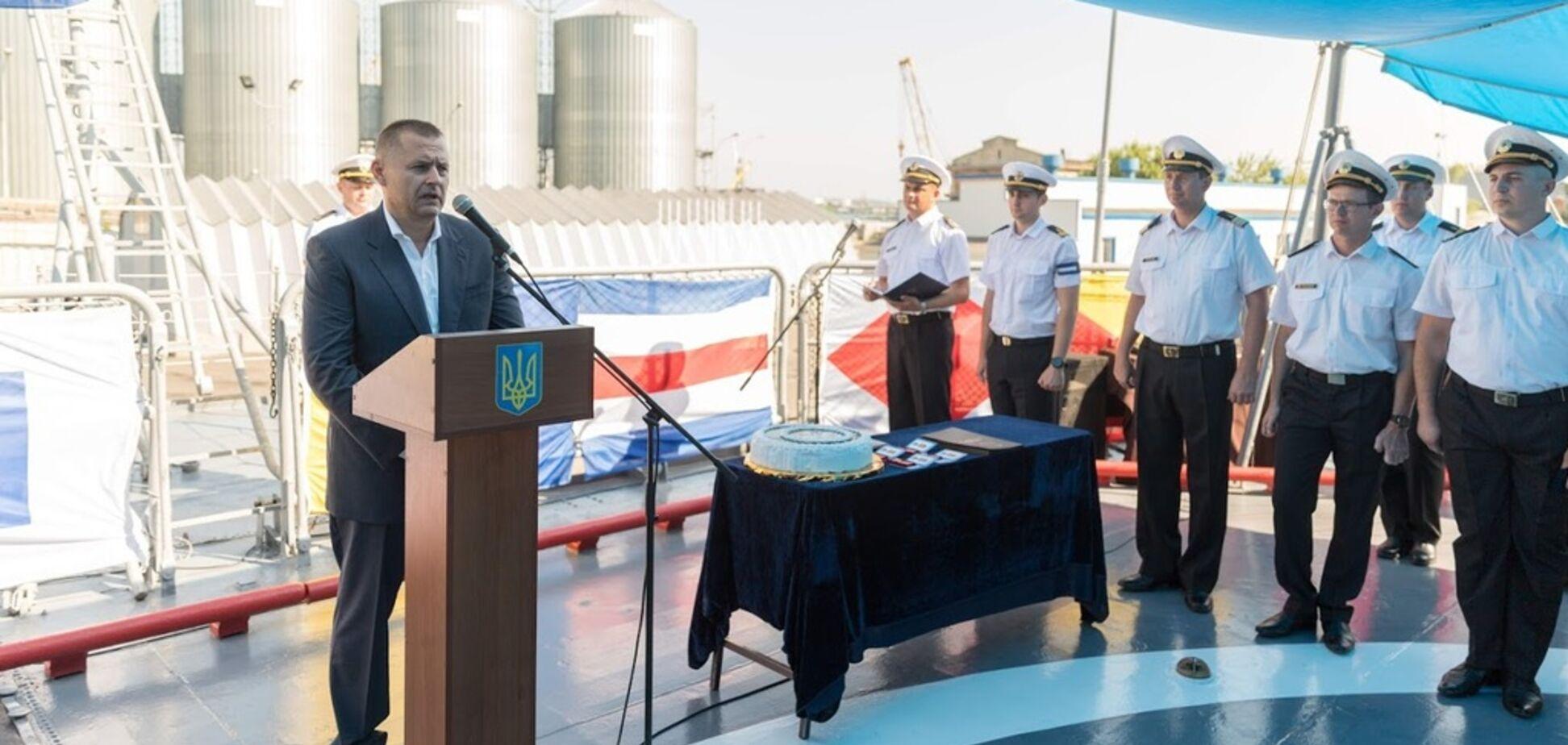 Філатов відсвяткував 26-у річницю підняття прапора ВМСУ на 'Гетьмані Сагайдачному'
