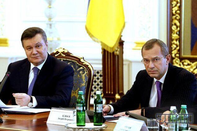 Виктор Янукович и Андрей Клюев