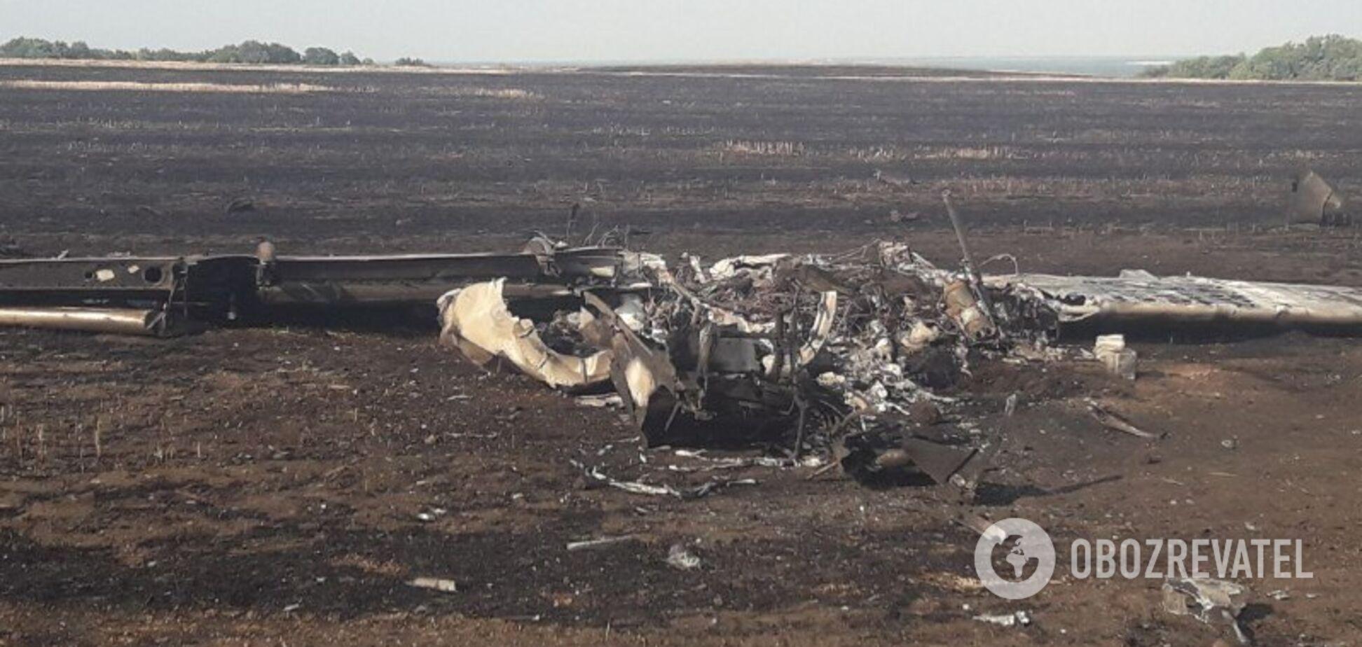 Крушение самолета на Харьковщине: опубликованы первые фото с места ЧП