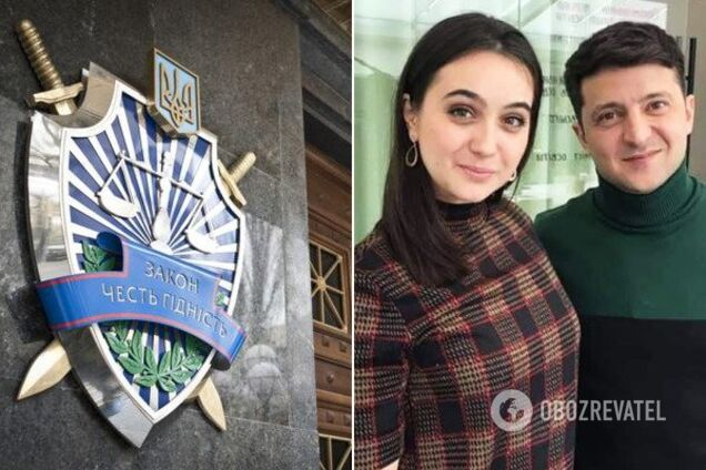 Юлия Мендель и Владимир Зеленский