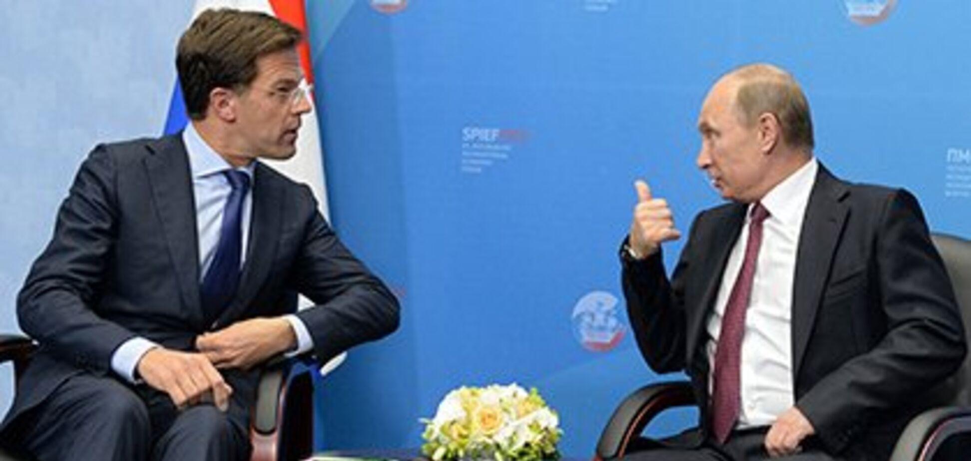 Премьер Нидерландов признался в 'тайной' встрече с Путиным по MH17