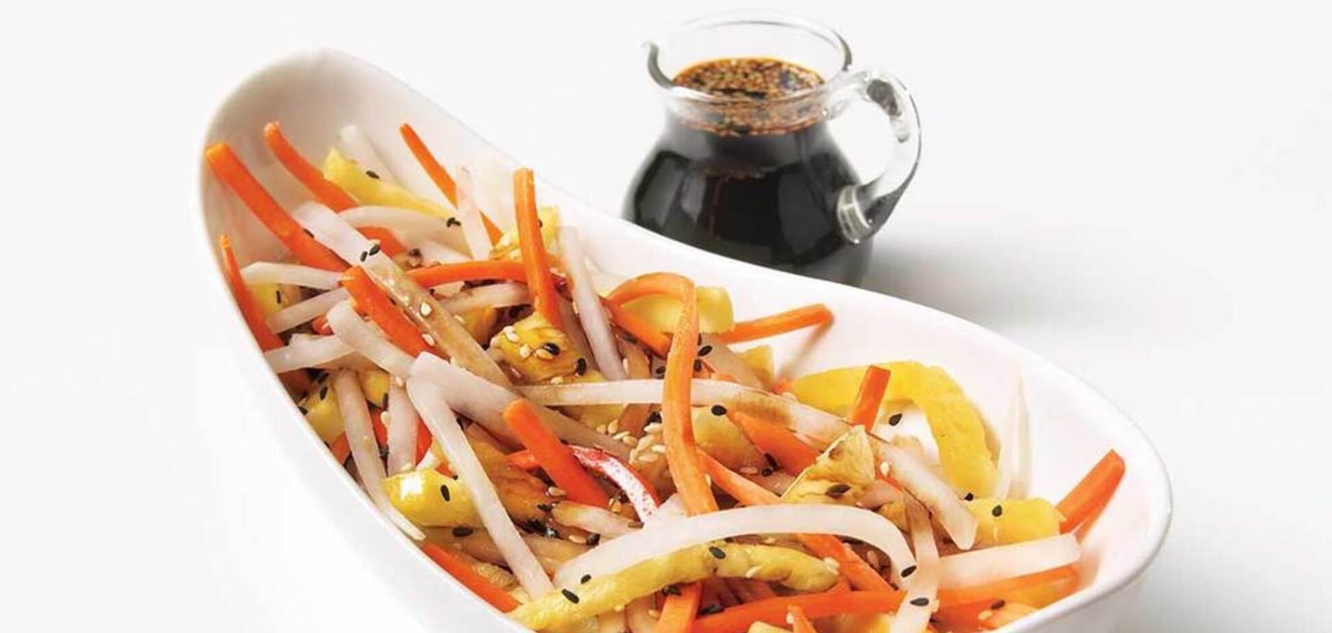 Рецепт очень вкусного салата с японским секретом