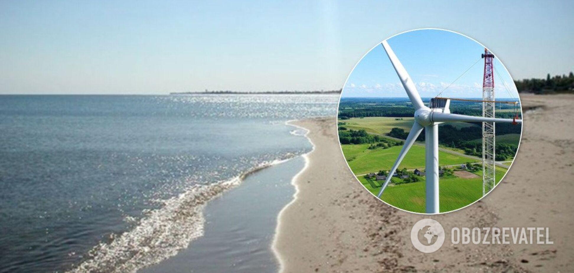Новая ветроэлектростанция на юге Украины займет половину футбольного поля