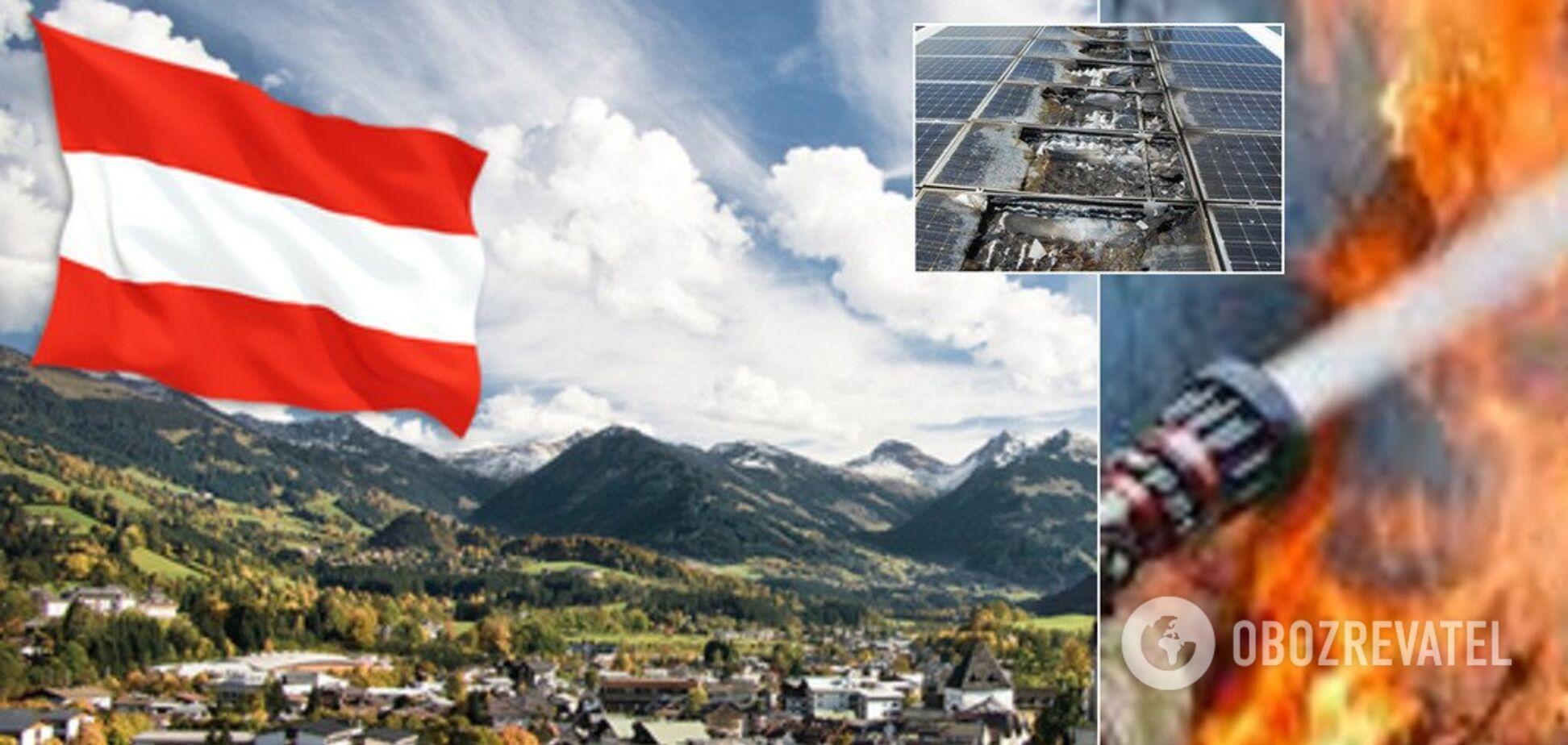 В Австрии загорелась крышная солнечная станция. Фото