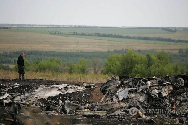 Место катастрофы самолета Boeing-777 над Донбассом