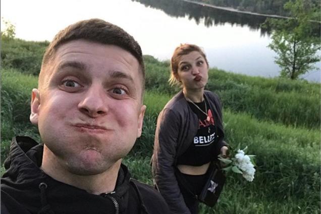 Виталий Чайковский с невестой Анастасией Ковалевой