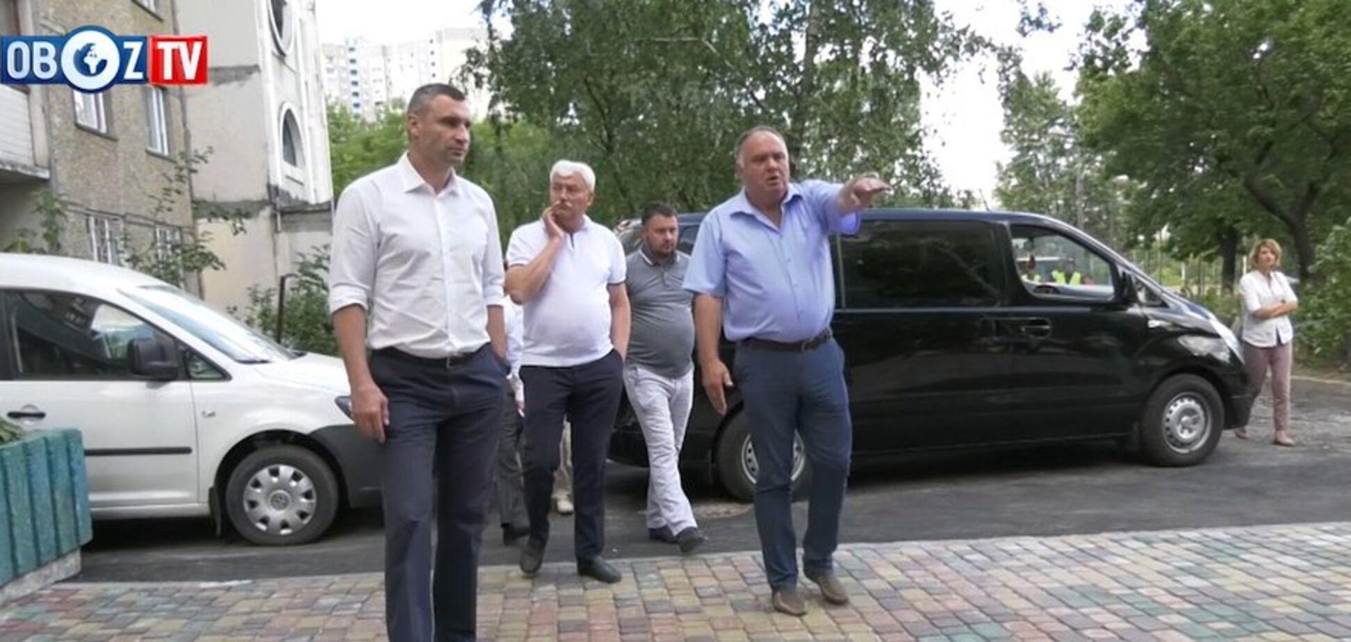 Кличко: в Киеве активно ремонтируют дворы и межквартальные проезды