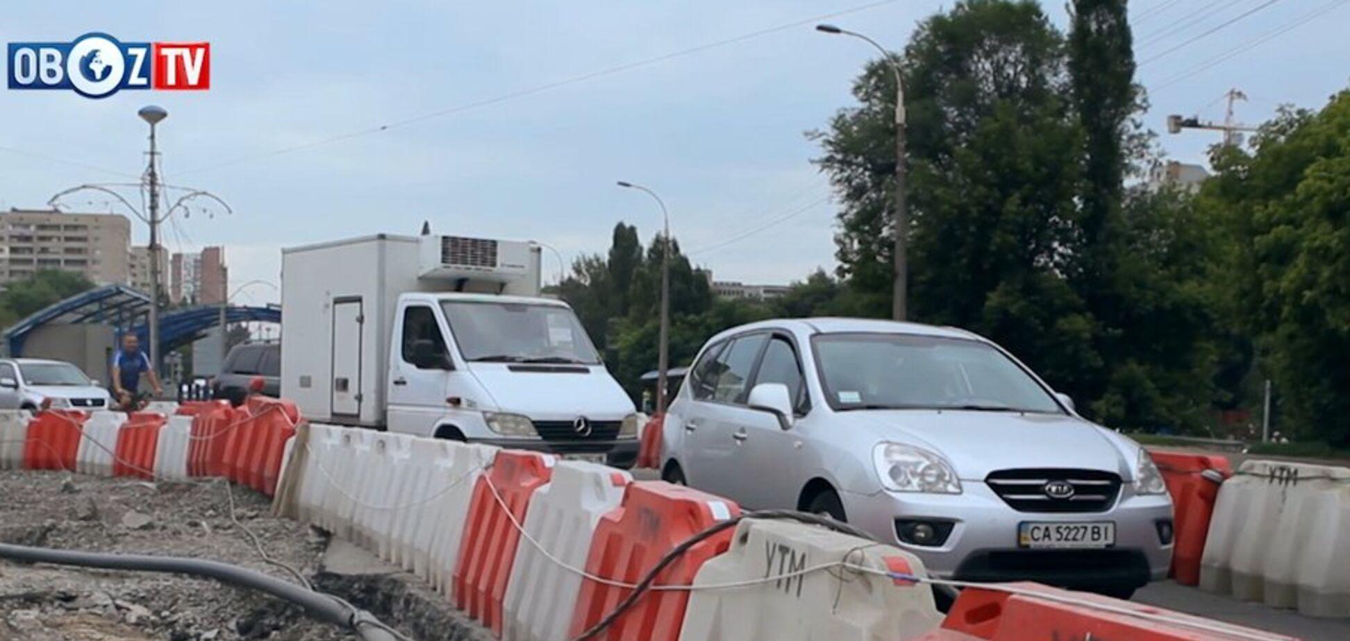 Работы по обновлению Борщаговского путепровода