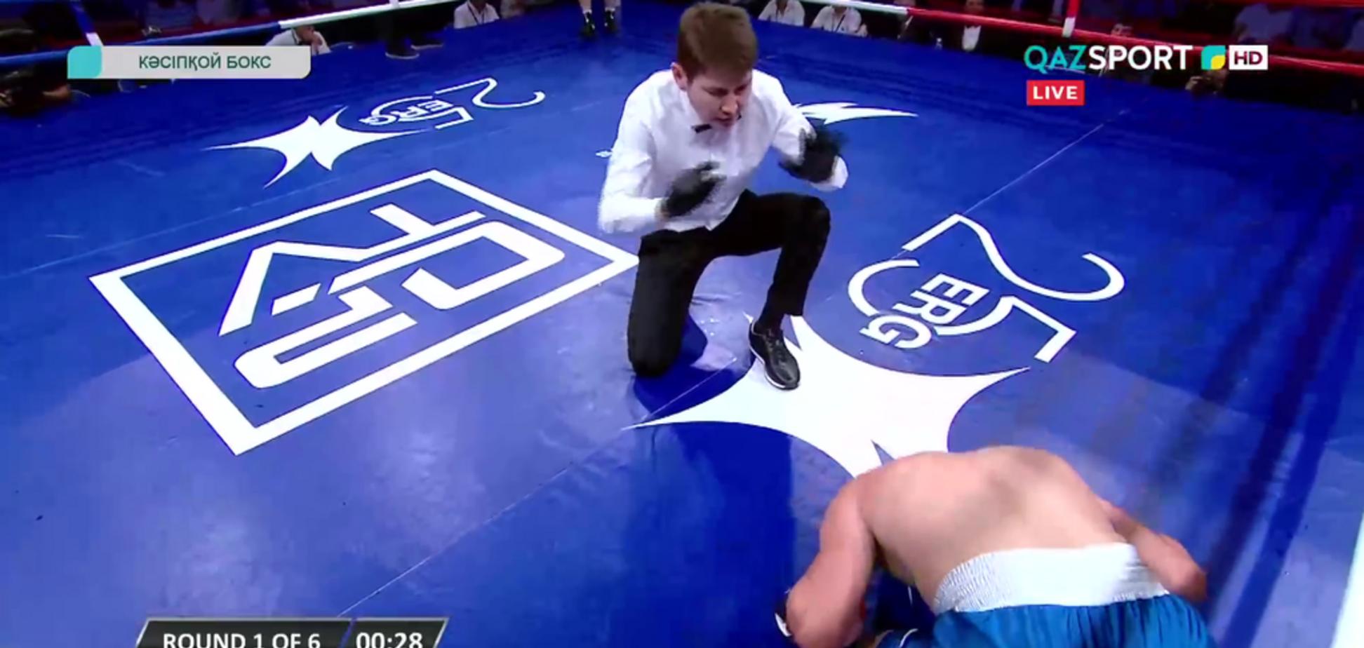 Украинского боксера отправили в жесткий нокаут в первом раунде