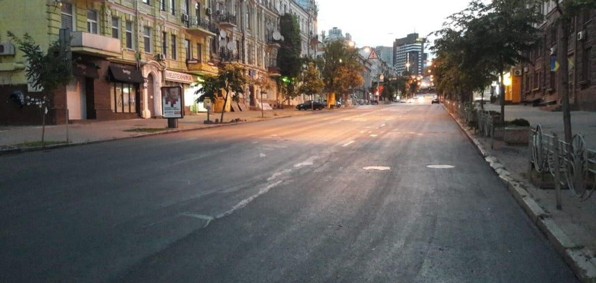 Ремонт улицы Петлюры полимерасфальтобетоном подходит к концу – КГГА