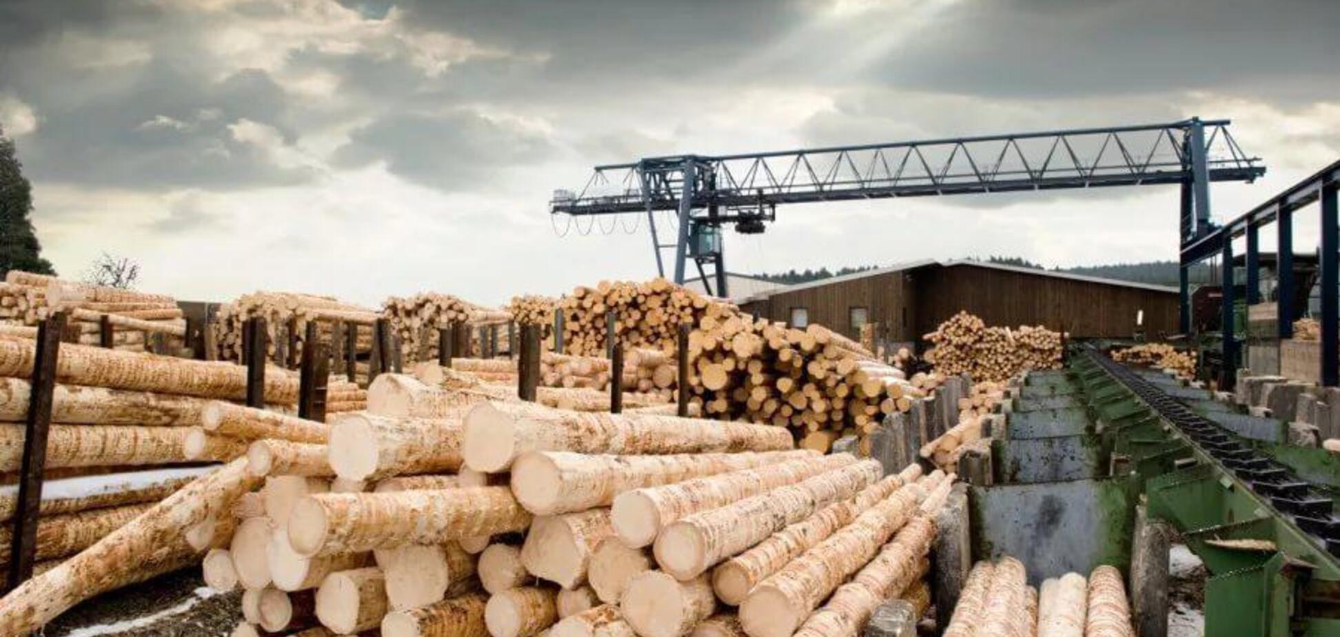 Ілюстрація. експорт деревини