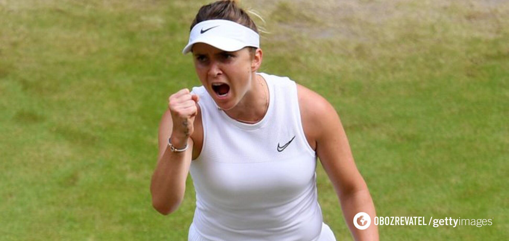 Свитолина с рекордом Украины вышла в полуфинал Wimbledon