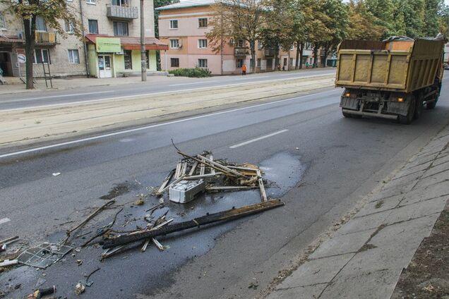 На пр. Мазепи на ходу загорівся КАМАЗ
