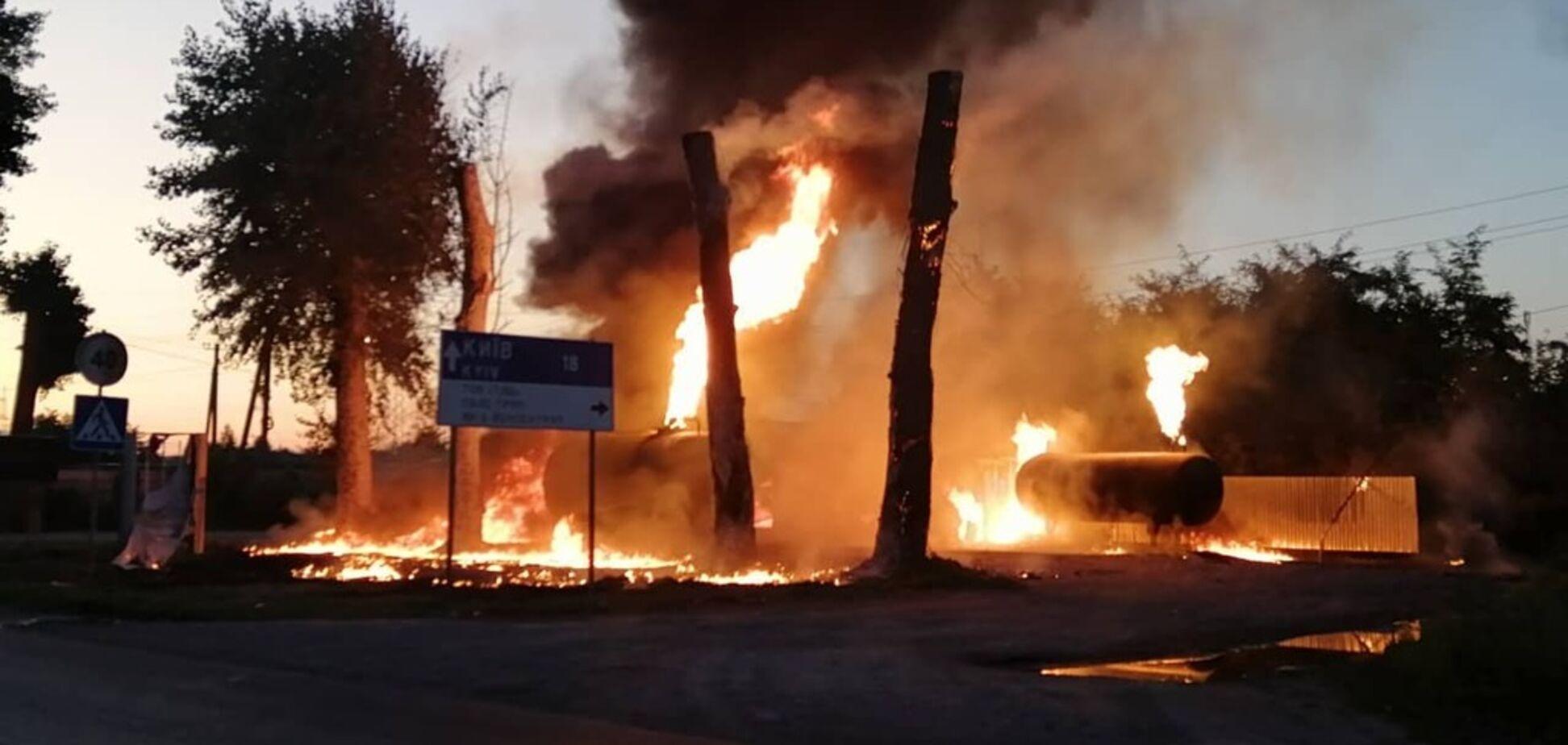 Під Києвом загорівся АЗК: у постраждалого серйозні опіки