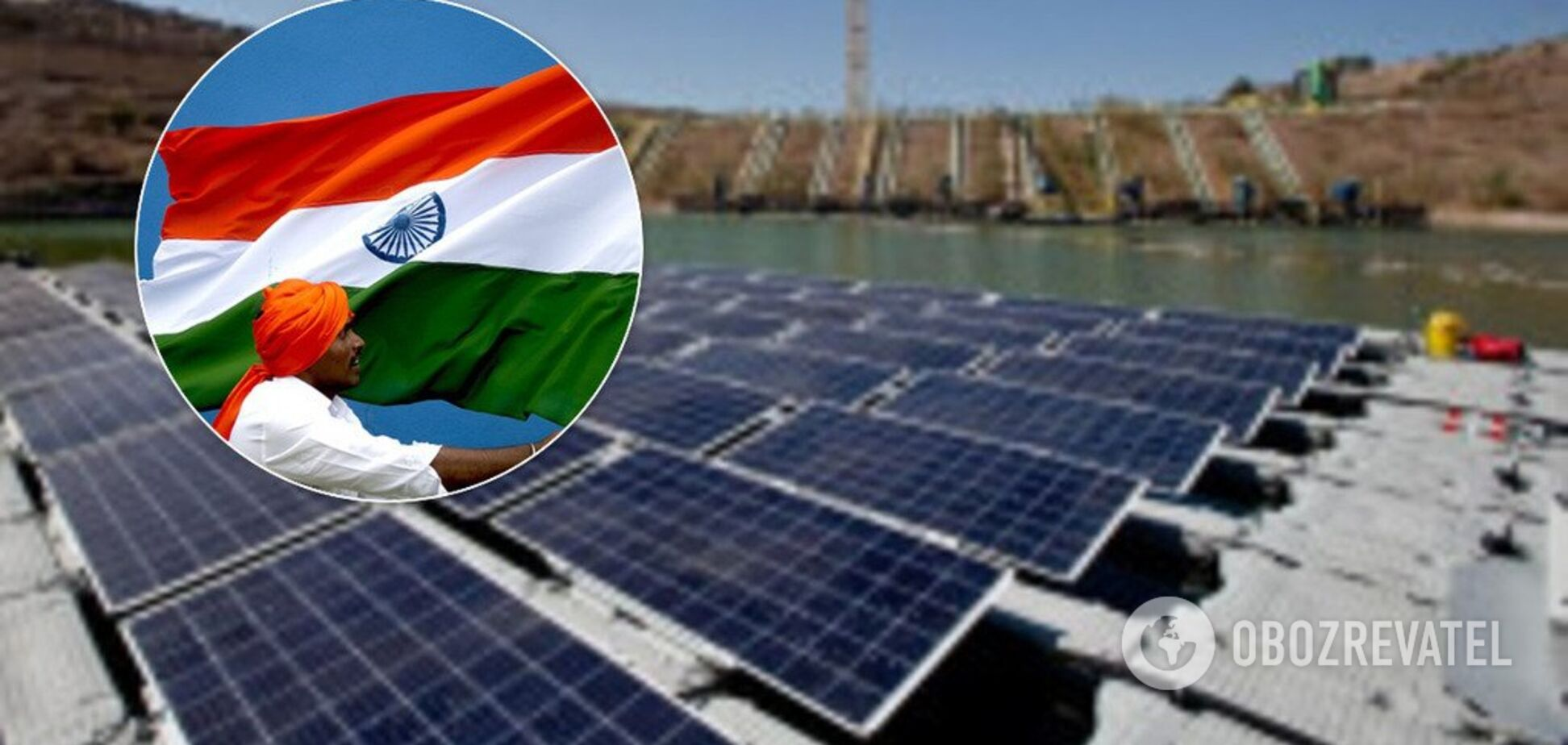 З суші на воду: дефіцит землі в Індії змусить сонячні електростанції плавати
