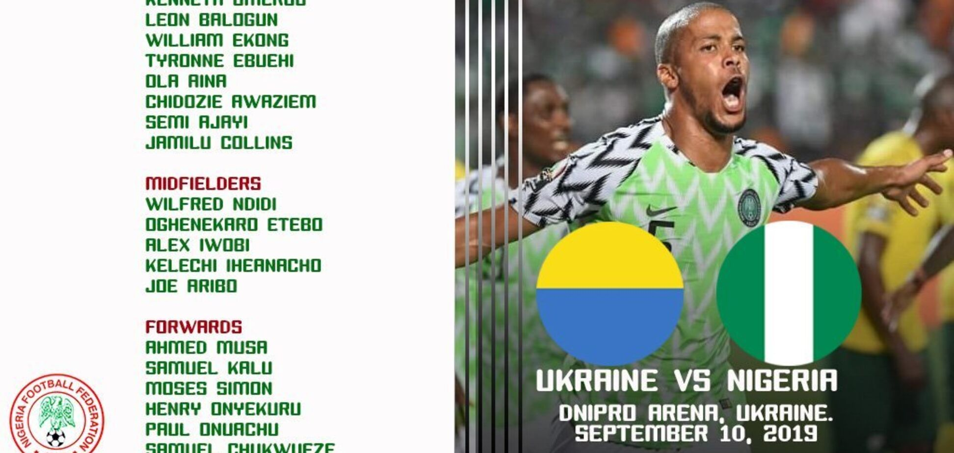 Ляп дня: в Нигерии 'поиздевались' над сборной Украины по футболу