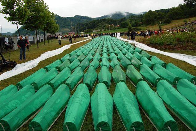 Ілюстрація. Похорон 465 упізнаних у 2007 році жертв різанини в Сребрениці