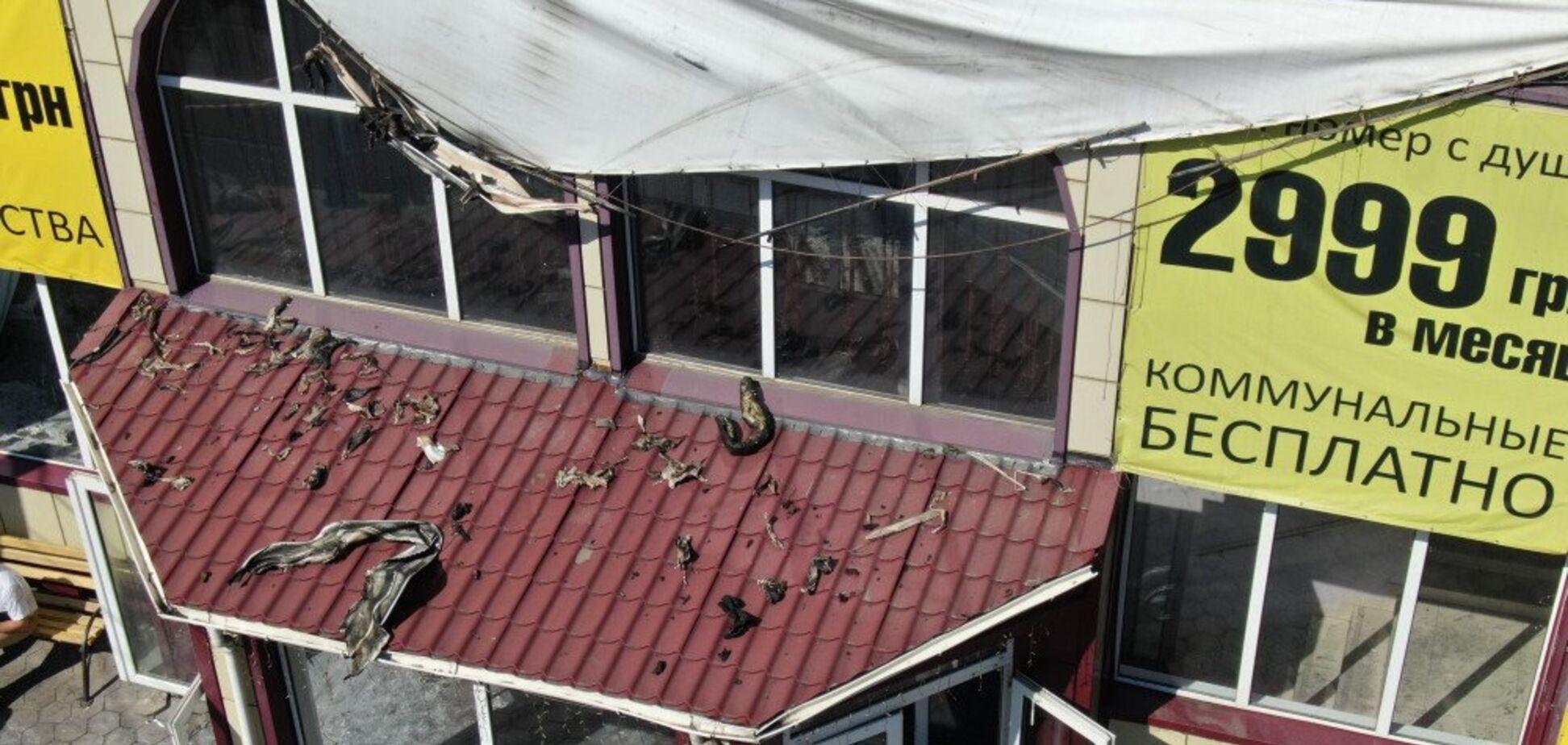 Готель в Одесі зняли з дрона після пожежі: опубліковані фото і відео