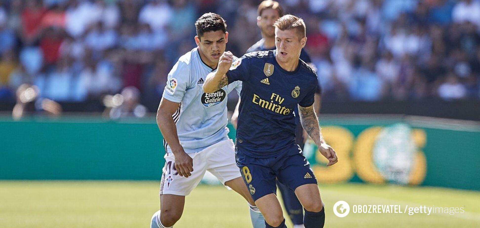 Футболист 'Реала' забил шедевральный гол с 20 метров