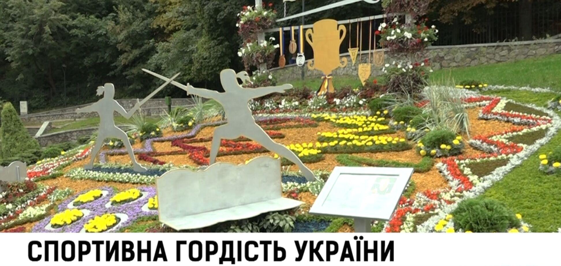 На территории Певческого поля стартовала выставка цветов, посвященная Дню Независимости