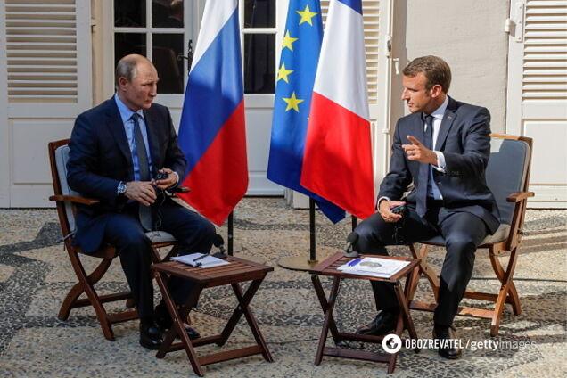 Владимир Путин и Эммануэль Макрон в Марселе 19 августа