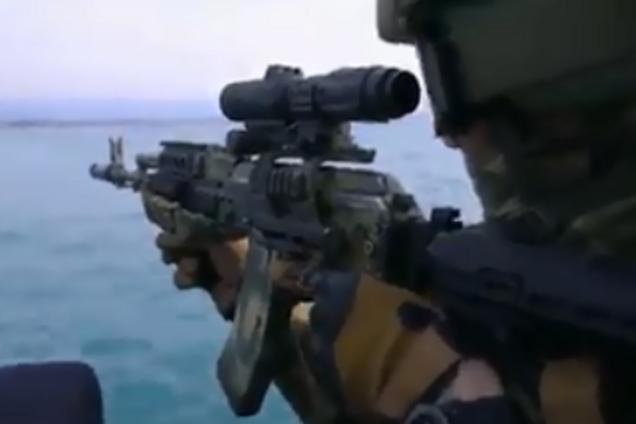 Кадр із відео пропагандистів