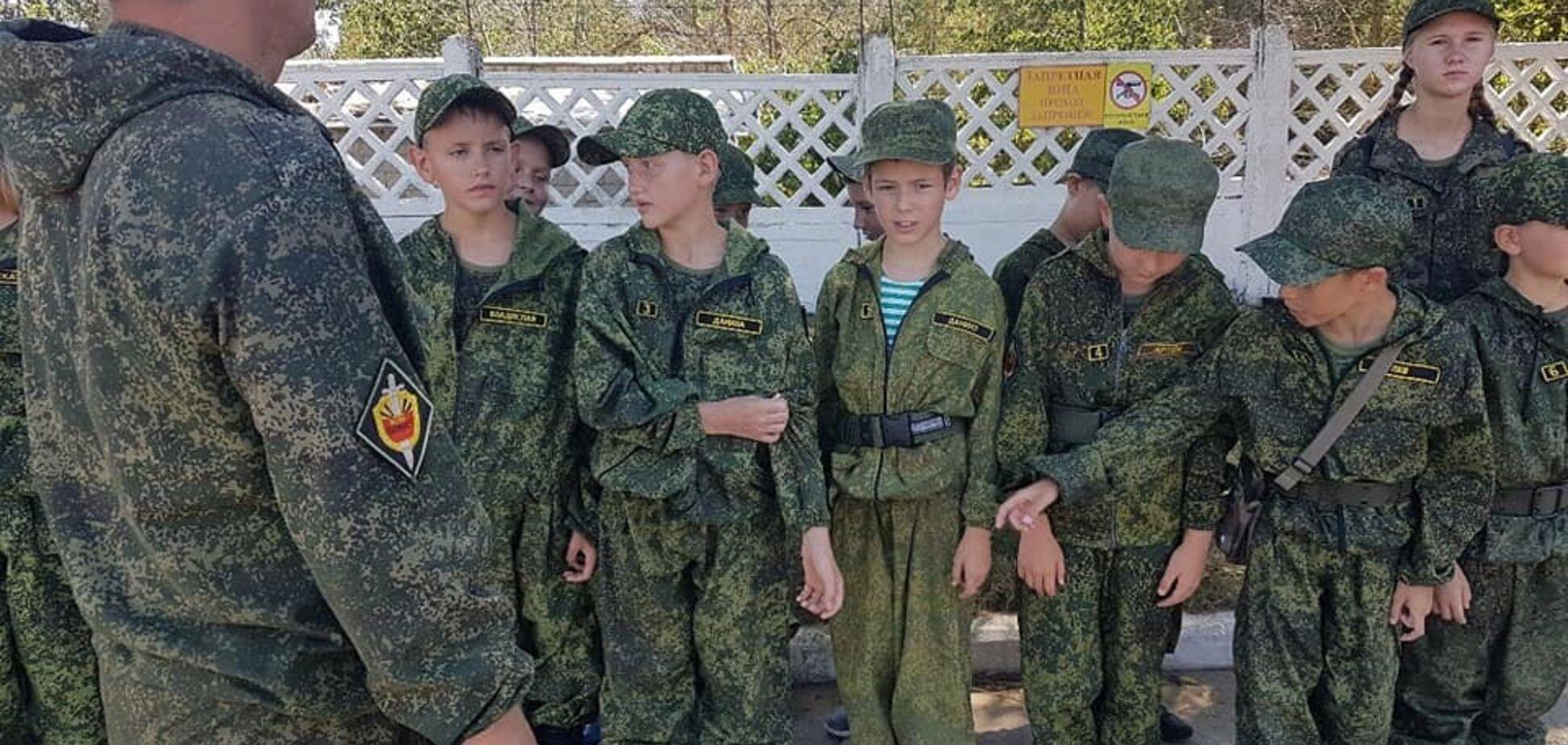 'Вкладають скрепи!' У ЗСУ показали 'військових' дітей із Криму