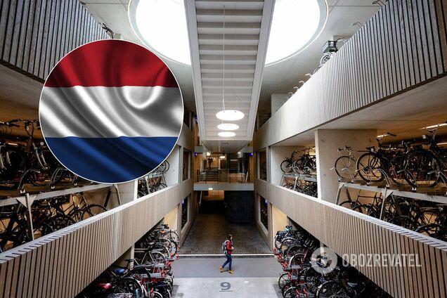 Велопаркинк №1 в мире по количеству мест