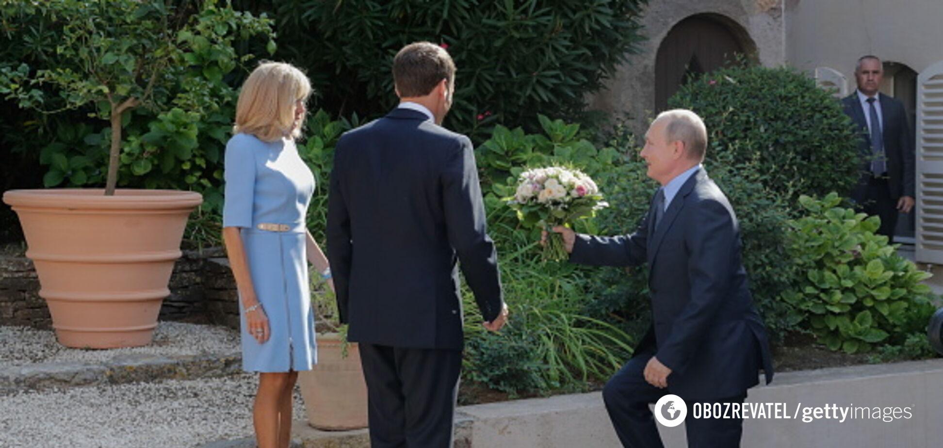 Володимир Путін на зустрічі з Макронами в Марселі