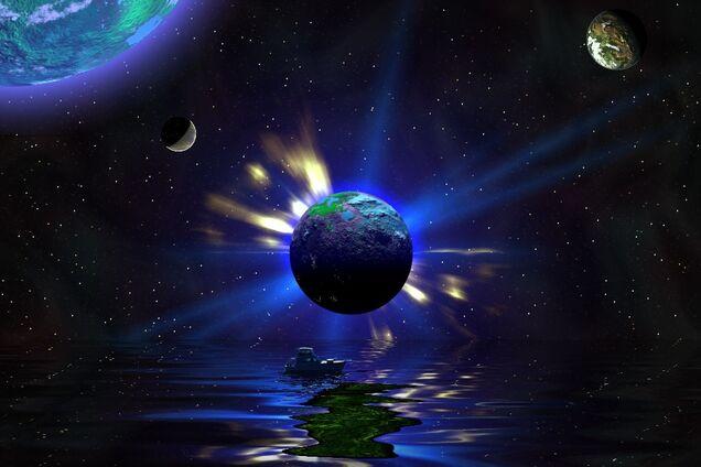 Планета в космосе, иллюстрация