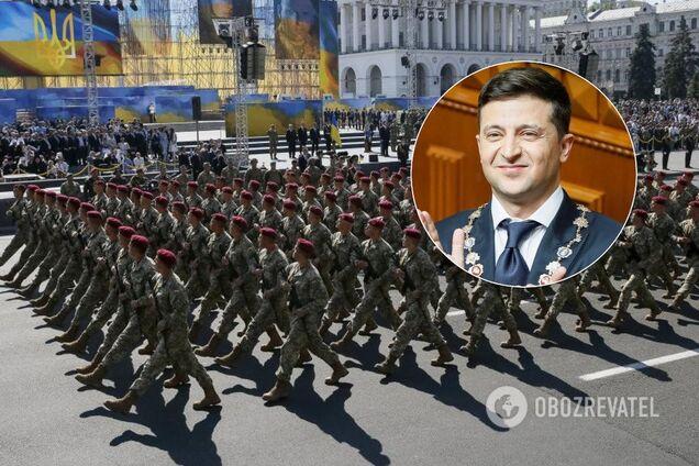 Зеленський доручив зібрати військових на парад до Дня Незалежності