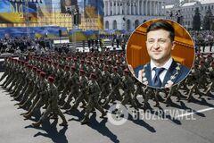 Зеленский поручил собрать военных на парад ко Дню Независимости