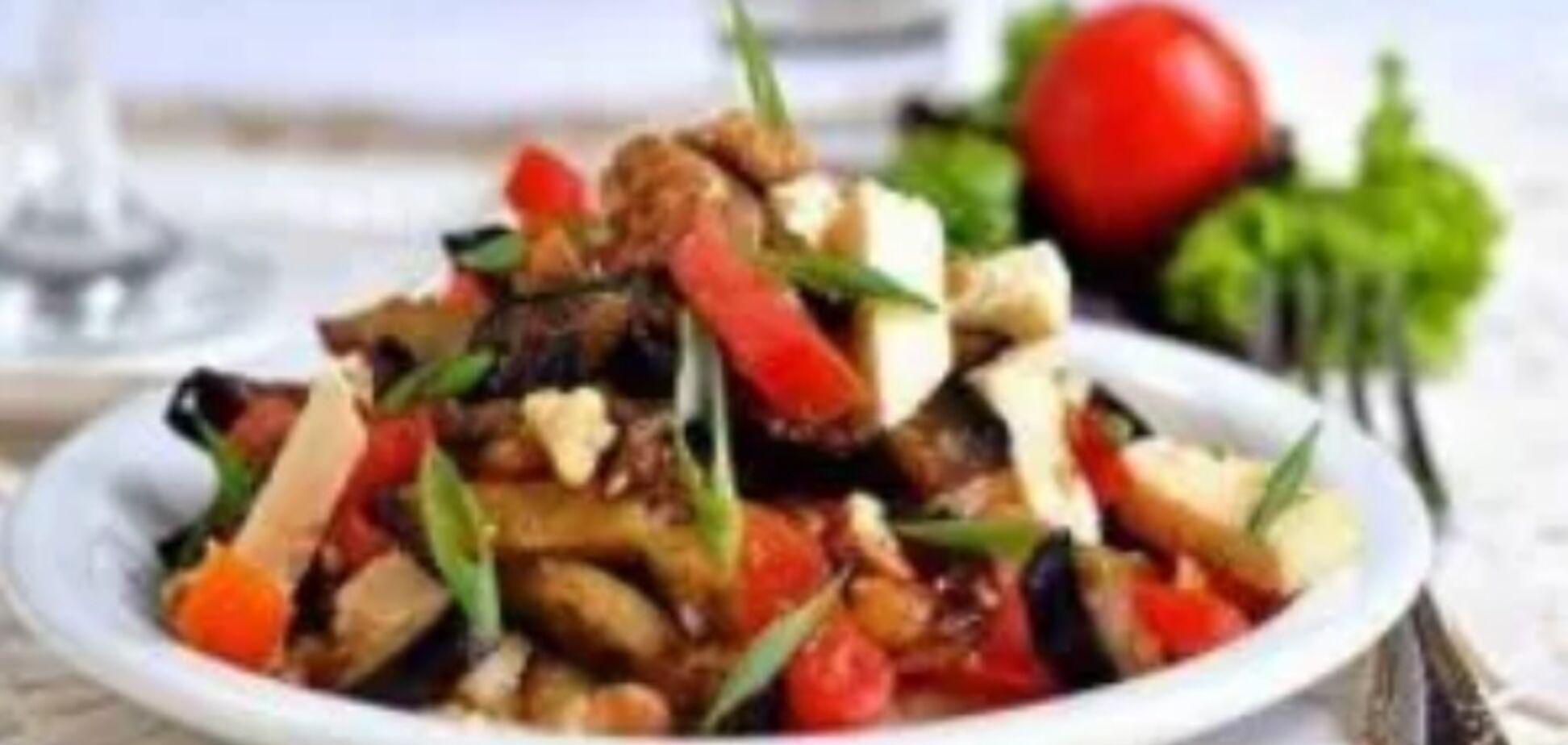 Рецепт вкуснейшего средиземноморского салата с баклажанами