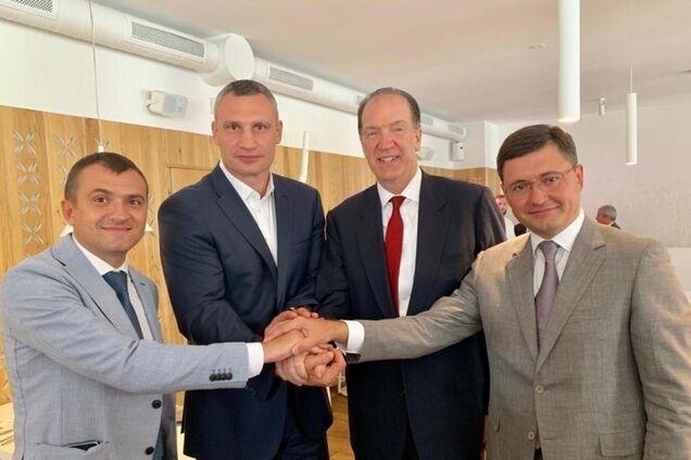 Кличко в Украине встретился с президентом Группы Всемирного банка Дэвидом Малпассом