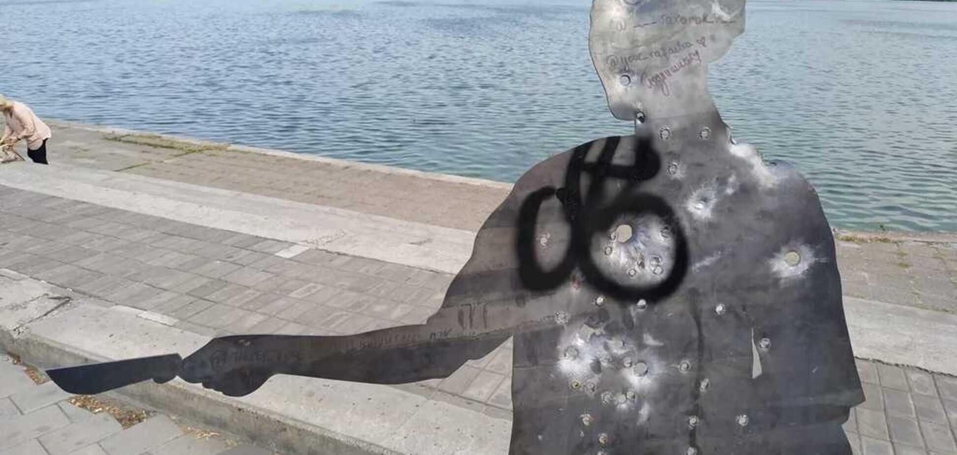 У Дніпрі вандали осквернили розстріляних людей: в мережі обурені. Фото
