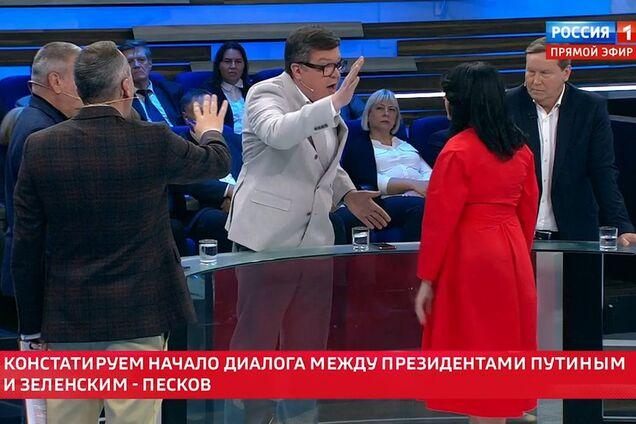 Пропагандист Путина набросился на украинку на росТВ