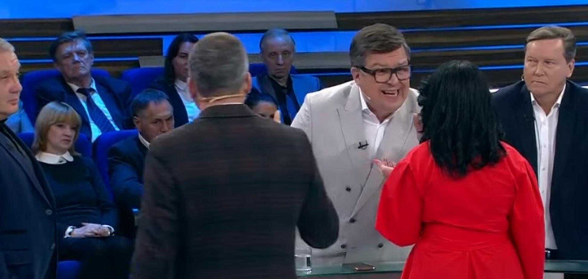 Скандал на российском телевидении