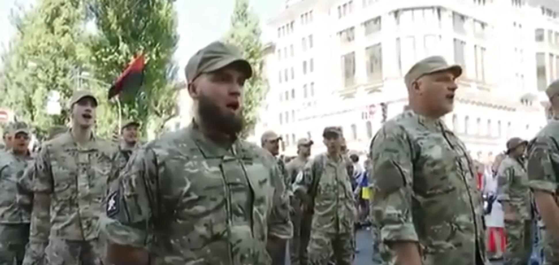 'Путин х**ло': в Киеве ветераны АТО 'поздравили' президента России