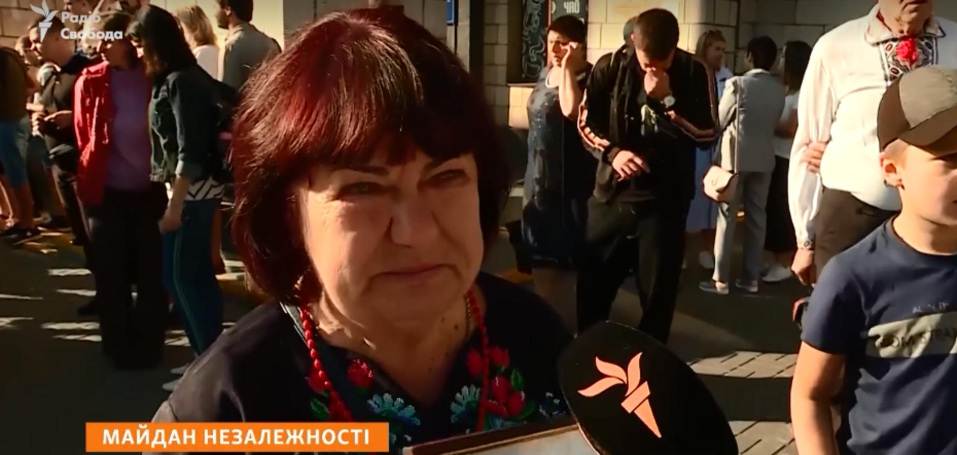 Мать погибшего АТОшника не пустили на Майдан: появилось видео