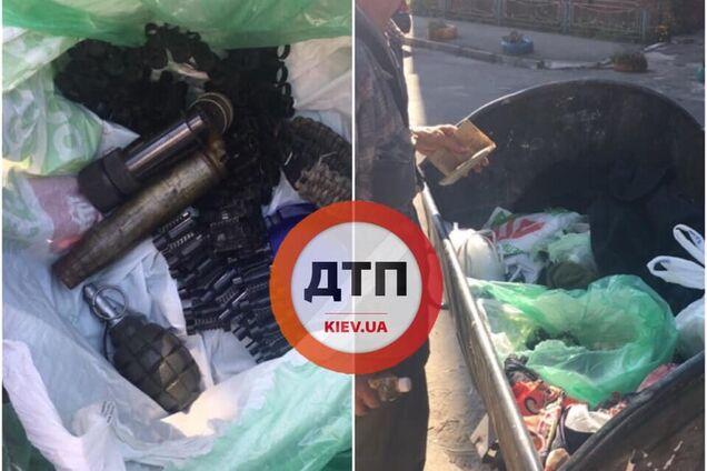 У Києві в сміттєвому баку знайшли арсенал вибухівки
