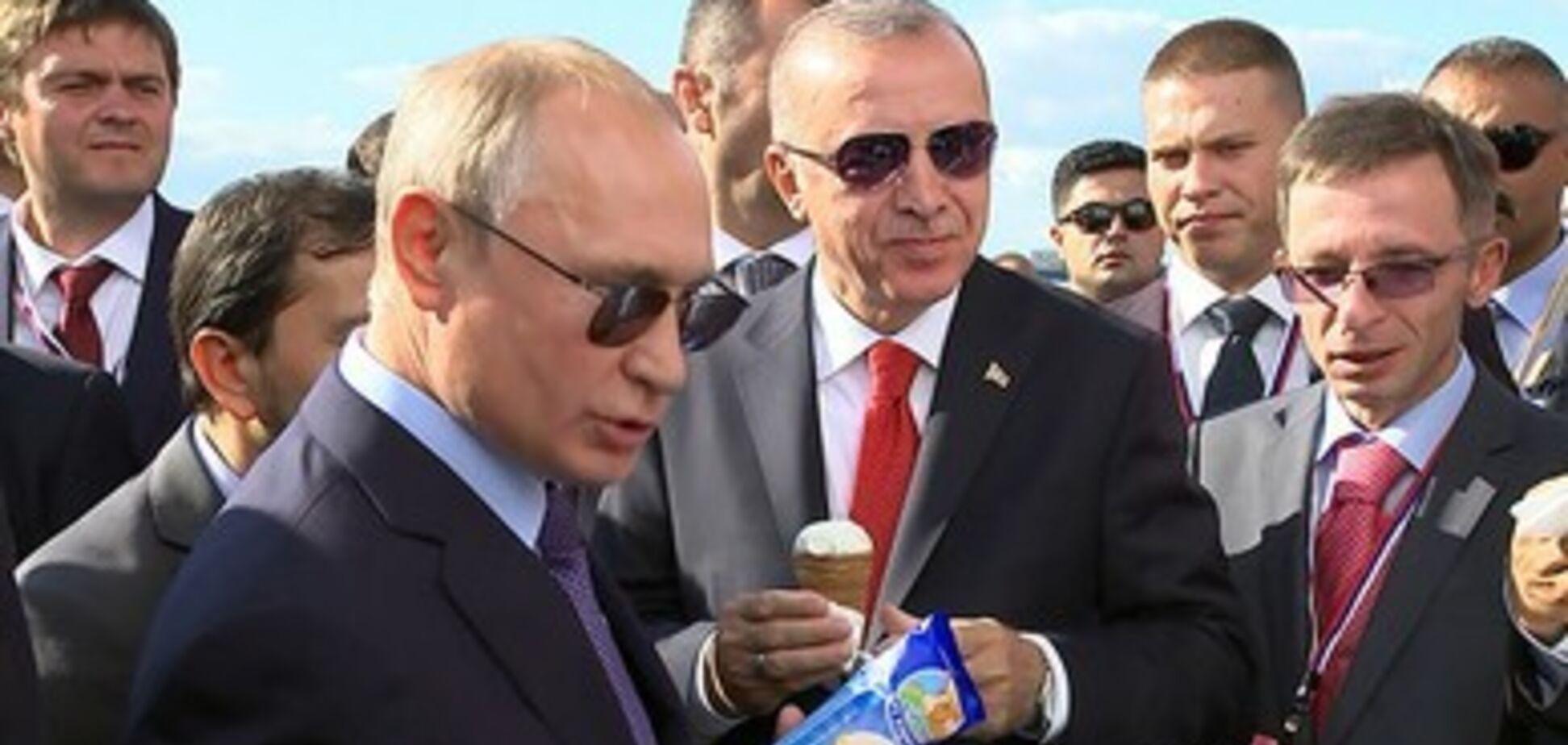 Путин оконфузился на встрече с Эрдоганом