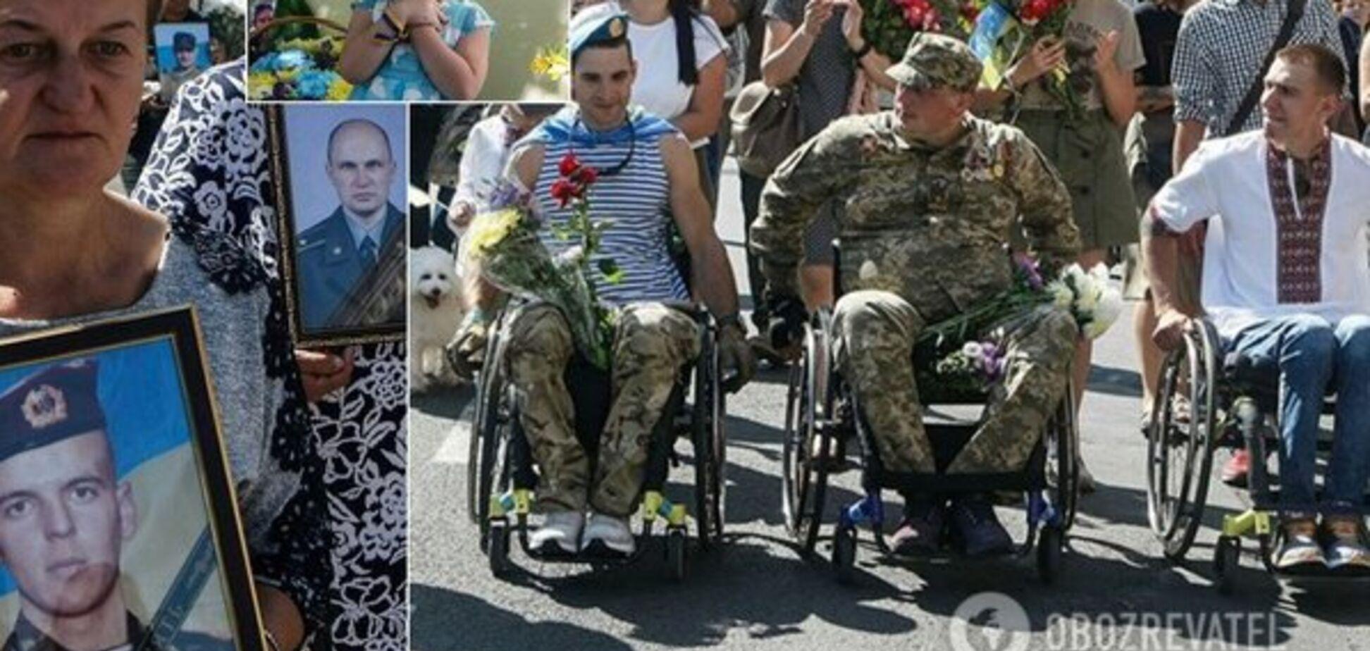 Два парада: не убивайте Украину!