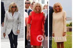 Дорого і на замовлення: спливли деталі про вбрання Бріжит Макрон на G7