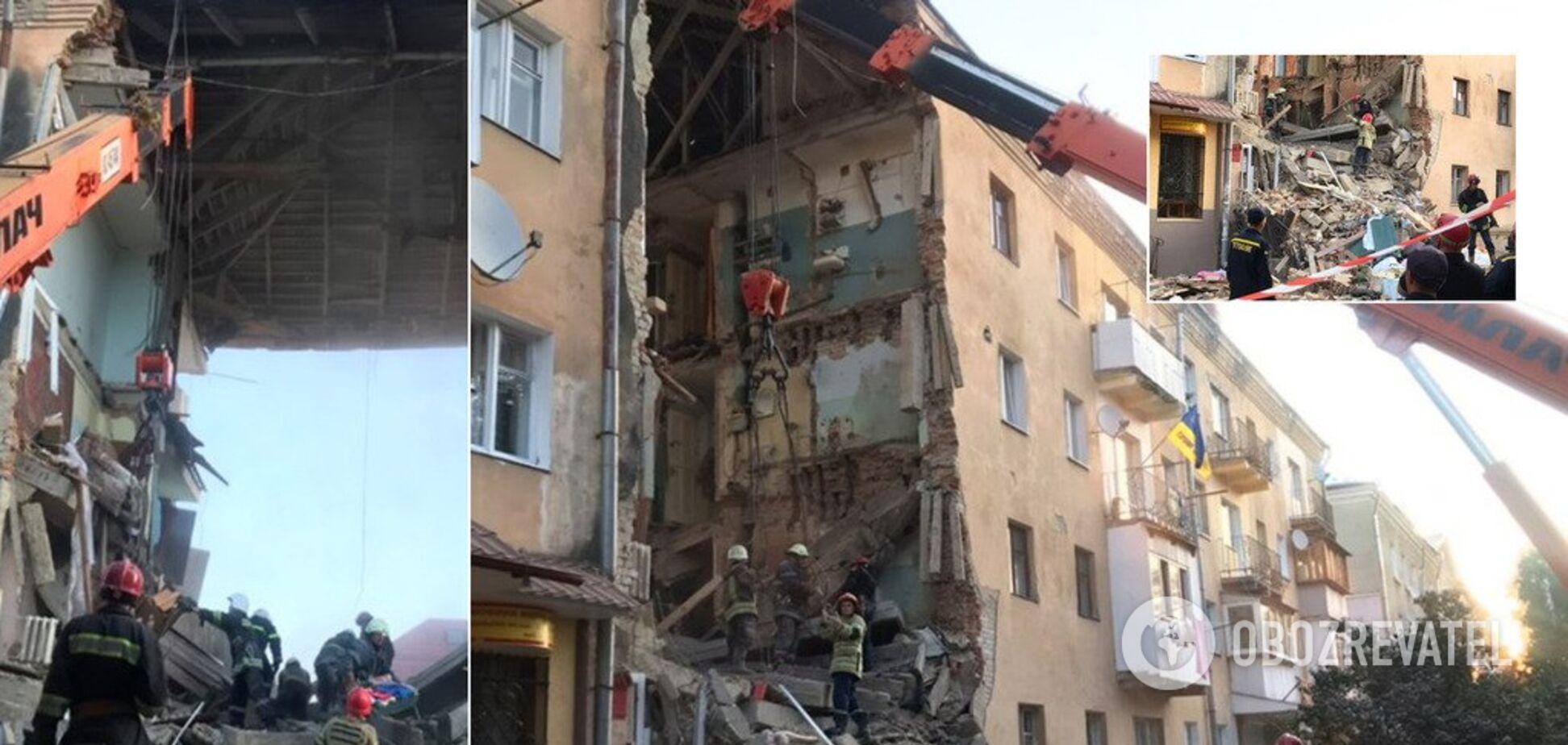 У Дрогобичі обвалився 4-поверховий будинок: є жертви і поранені. Фото та відео з місця НП