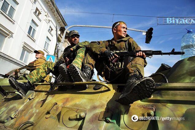 Террористы в Луганске