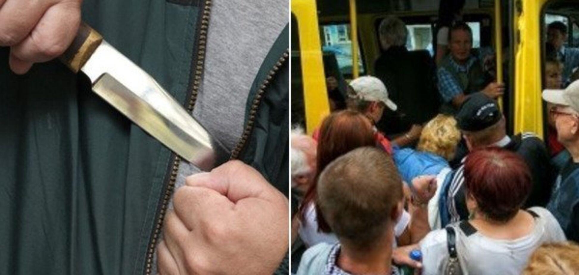 Напал с ножом: в Днепре мужчина устроил кровавую драку в маршрутке