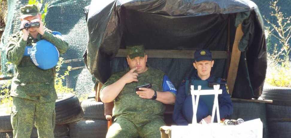 Блокпост террористов под Станицей Луганской