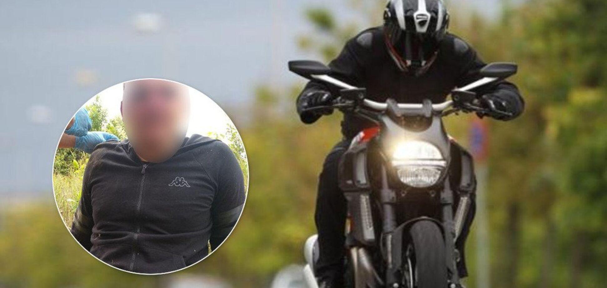 Під Дніпром кримінальник потрапив в ДТП на викраденому в Італії мотоциклі